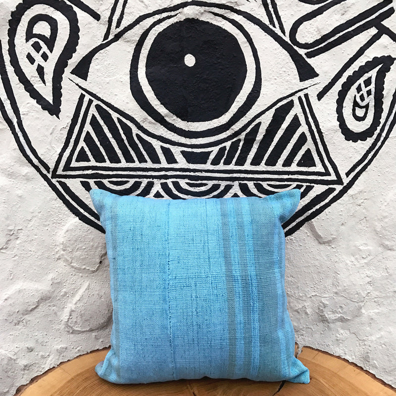 Pillow Turkish Kilim Sky Blue