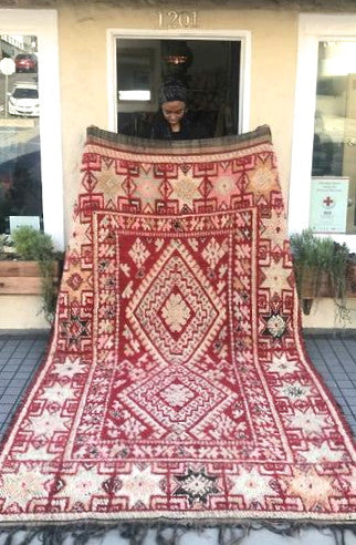 Rug Moroccan Beni M'guild red 9.9x6