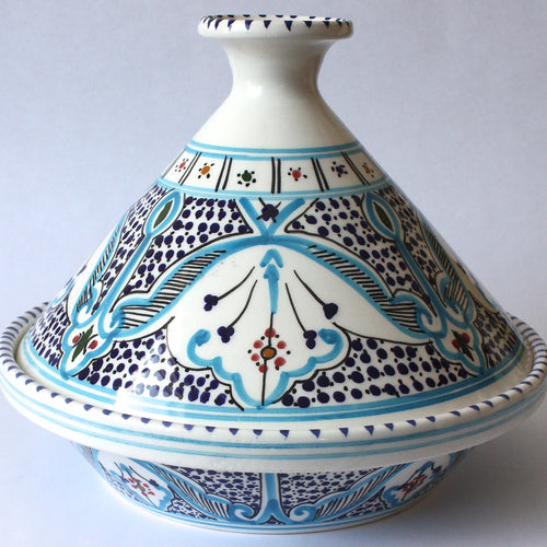 Tagine tunisian turquoise accents