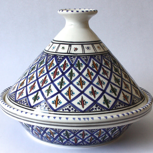 Tagine Tunisian Dark Blue Accents