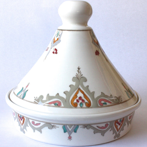 Tagine Tunisian White w/ Pastel Accents