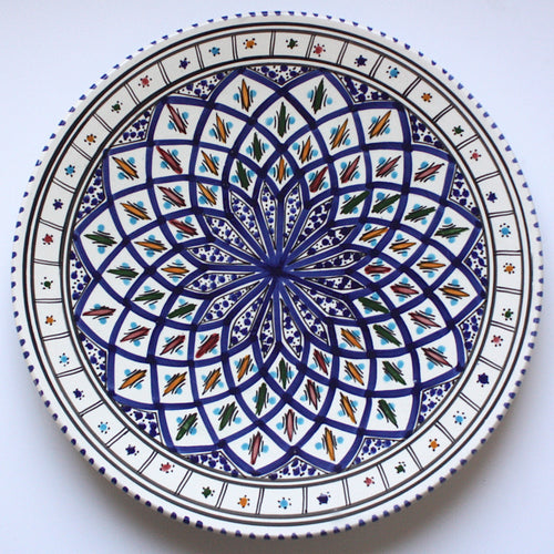 Platter Tunisian Dark Blue