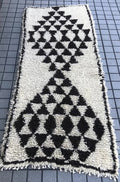 Rug Beni Ourain triangle runner 2.9x7