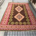 Rug Tunisian Earth Diamond 6x12 feet