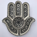 Hamsa Tunisian Ceramic White W/Black