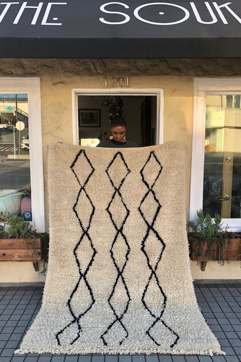 Rug Beni Ourain Black Diamond 4.10 x 7.9
