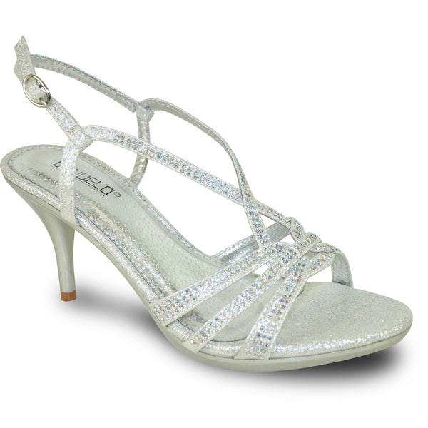 VANGELO Women Sandal ABBEY-4 Heel Party Prom & Wedding Sandal Silver