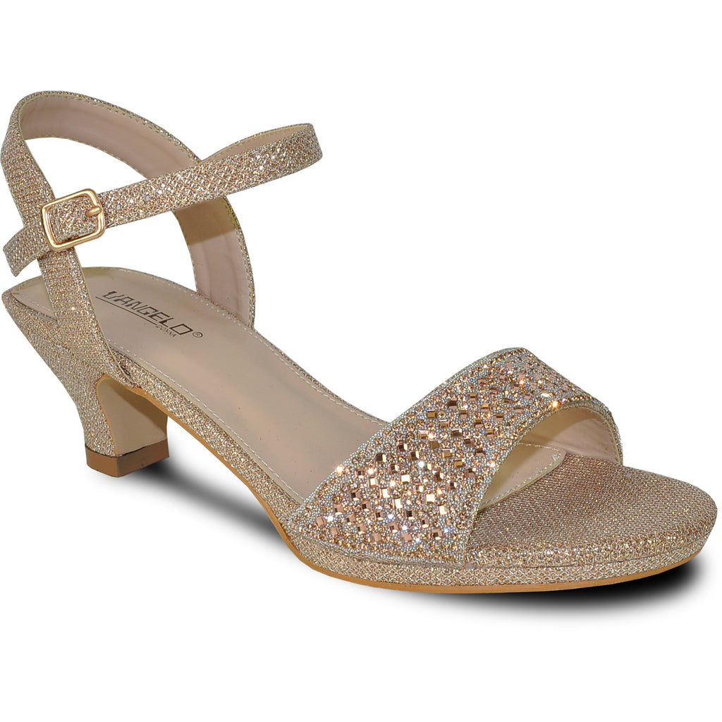 VANGELO Women Sandal ANGEL-10 Heel Party Prom & Wedding Sandal Champagne