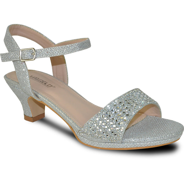 VANGELO Women Sandal ANGEL-10 Heel Party Prom & Wedding Sandal Silver