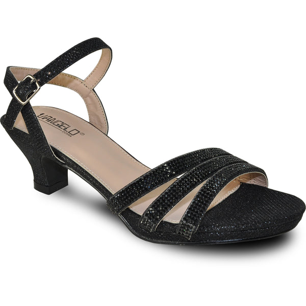 VANGELO Women Sandal ANGEL-11 Heel Party Prom & Wedding Sandal Black