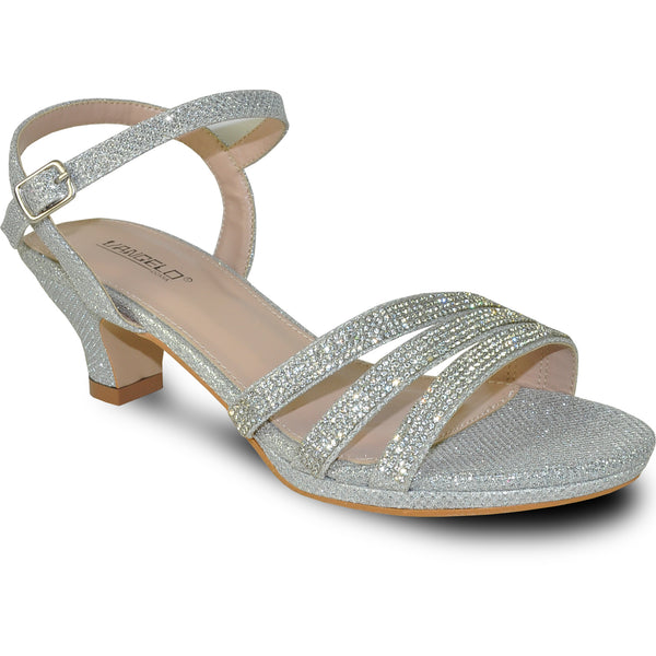VANGELO Women Sandal ANGEL-11 Heel Party Prom & Wedding Sandal Silver