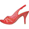 VANGELO Women Sandal BABS-4 Heel Party Prom & Wedding Sandal Red