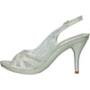 VANGELO Women Sandal BABS-4 Heel Party Prom & Wedding Sandal Silver