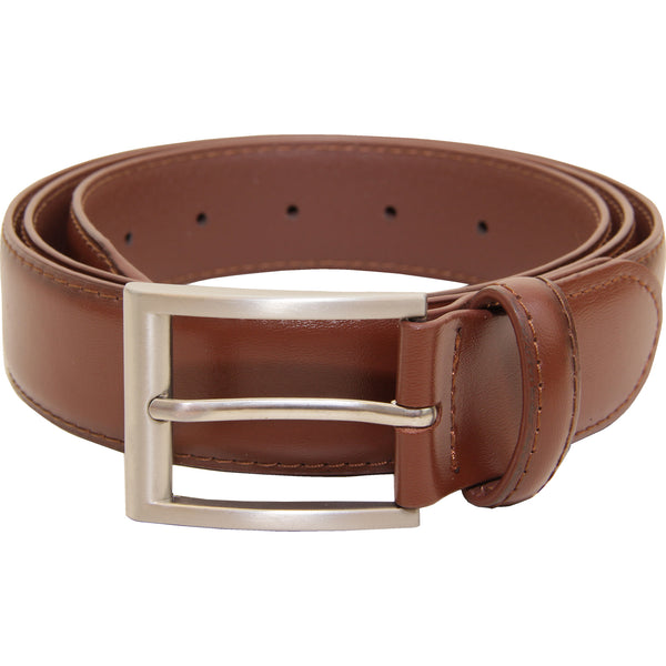 Vangelo Men Classic Dress Belt Brown