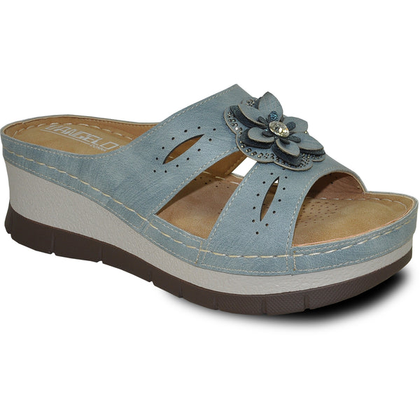 VANGELO Women Sandal DESTINY Wedge Sandal Blue