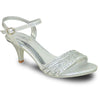 VANGELO Women Sandal FERNE-1 Heel Party Prom & Wedding Sandal Silver
