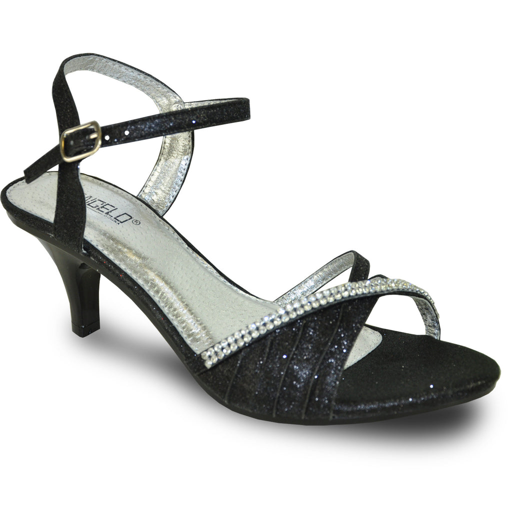 VANGELO Women Sandal FERNE-2 Heel Party Prom & Wedding Sandal Black
