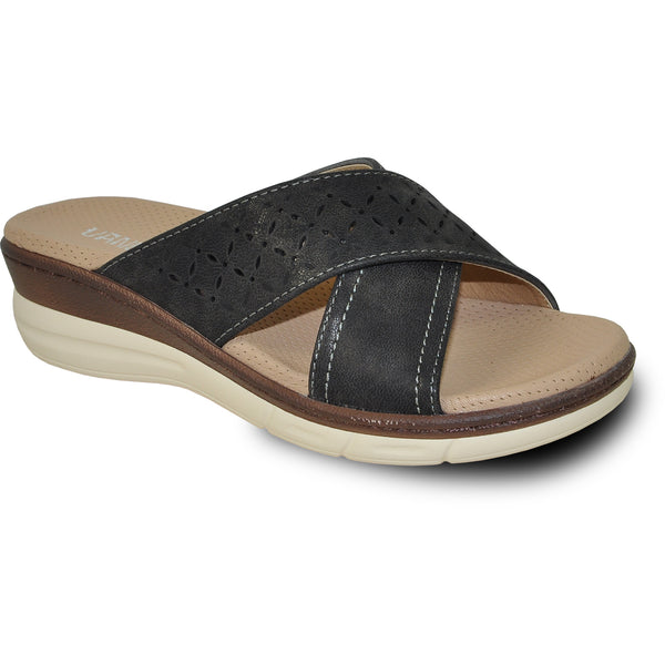 VANGELO Women Sandal HAVEN Wedge Sandal Black