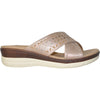 VANGELO Women Sandal HAVEN Wedge Sandal Champagne
