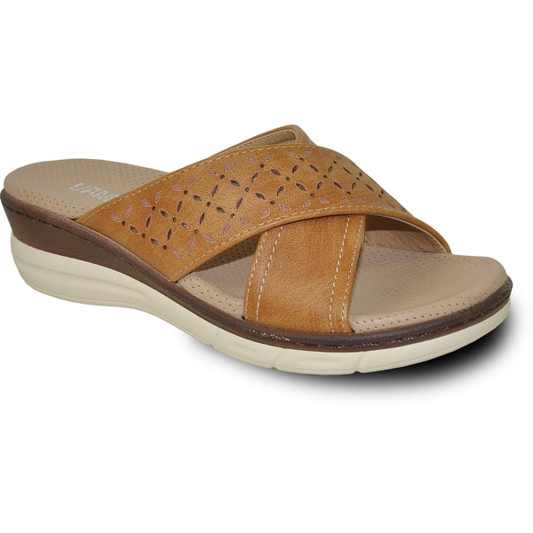 VANGELO Women Sandal HAVEN Wedge Sandal Camel