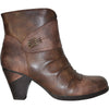VANGELO Women Boot HF8400 Ankle Dress Boot Brown