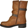 VANGELO Women Boot HF8408 Ankle Casual Boot Cognac Brown