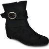 VANGELO Women Boot HF8419 Ankle Casual Boot Black