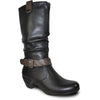 VANGELO Women Boot HF8421 Knee High Dress Boot Black