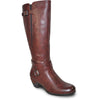VANGELO Women Boot HF9423W Knee High Dress Boot Bordo Red Wide Calf