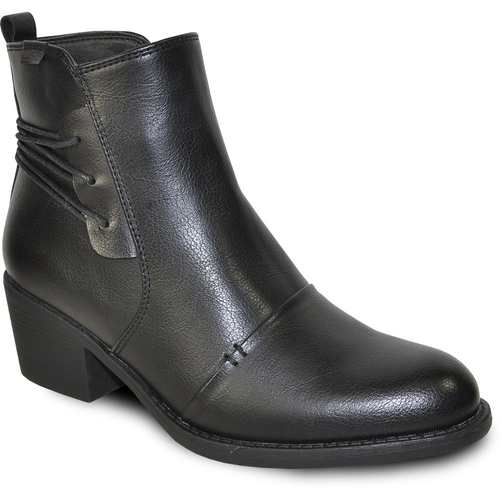 VANGELO Women Boot HF9430 Ankle Dress Boot Black