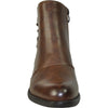 VANGELO Women Boot HF9430 Ankle Dress Boot Brown