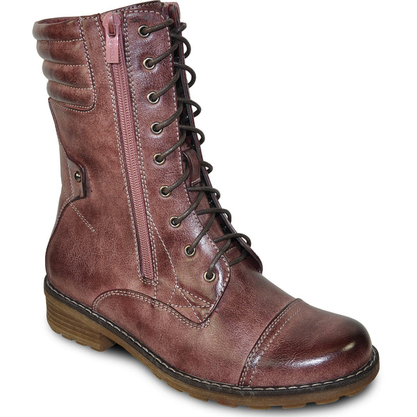 VANGELO Water Proof Women Boot HF9434 Ankle Casual Boot Rose Red
