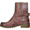 VANGELO Women Water Proof Boot HF9536 Ankle Winter Fur Casual Boot Rose Red