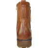 VANGELO Women Water Proof Boot HF9538 Ankle Winter Fur Casual Boot Cognac Brown