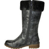 VANGELO Women Water Proof Boot HF9539 Knee High Winter Fur Casual Boot Coal Grey