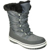 VANGELO Women Water Proof Boot JL9517 Ankle Winter Fur Casual Boot Grey