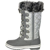 VANGELO Women Water Proof Boot JL9519 Knee High Winter Fur Casual Boot Light Grey
