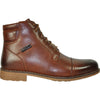 BRAVO Men Boot JL9806 Dress Winter Fur Boot Brown