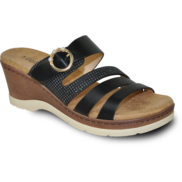 VANGELO Women Sandal JONI Wedge Sandal Black