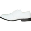 JEAN YVES Men Dress Shoe JY01 Oxford Formal Tuxedo for Prom & Wedding Shoe White Patent - Wide Width Available