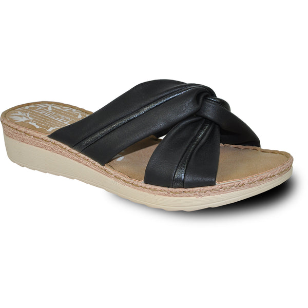 VANGELO Women Sandal KENZIE Wedge Sandal Black
