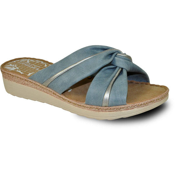 VANGELO Women Sandal KENZIE Wedge Sandal Blue