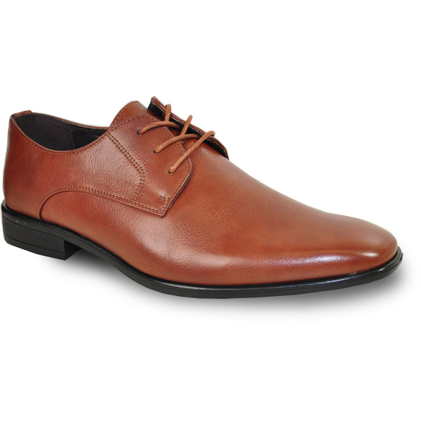 BRAVO Men Dress Shoe KING-1 Oxford Shoe Brown - Wide Width Available