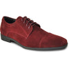 VANGELO Men Dress Shoe KING-4 Oxford Formal Tuxedo for Prom and Wedding Burgundy - Wide Width Available - Ortholite Insole