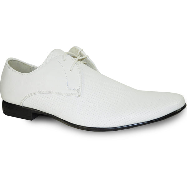 BRAVO Men Dress Shoe KLEIN-1 Oxford Shoe White