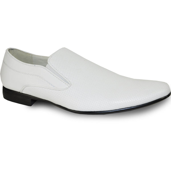 BRAVO Men Dress Shoe KLEIN-3 Loafer Shoe White