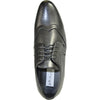 BRAVO Men Dress Shoe KLEIN-4 Wingtip Oxford Shoe Black