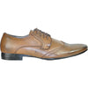 BRAVO Men Dress Shoe KLEIN-4 Wingtip Oxford Shoe Brown