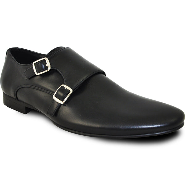 BRAVO Men Dress Shoe KLEIN-5 Loafer Shoe Black with Leather Lining