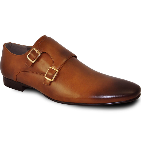 BRAVO Men Dress Shoe KLEIN-5 Loafer Shoe Tan with Leather Lining